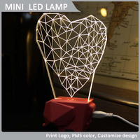 rechargeable led reading lamp novelty items led decorative table lamp night light heart shape fancy table lamp VLL-003