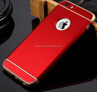 Luxury Ultra-thin Shockproof Armor Back Case Cover for Apple iPhone 6 6S Red color