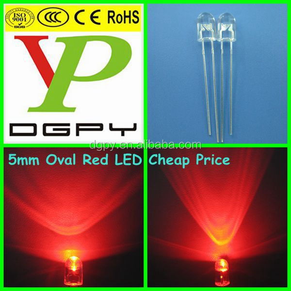 Yellow color Dip 5mm 546 oval diode
