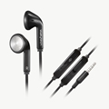 Wallytech New WHF-028 Stereo Flat Cable Earphone with Microphone and Volume Remote