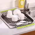 Folding Small Mat Over the Sink Roll-Up Dish Drying Rack Kitchen Rack Kitchen Equipment