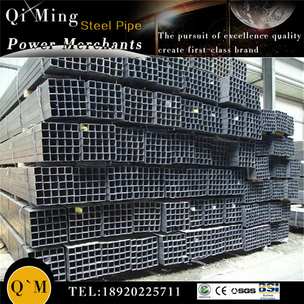 Best quality Q235 black and galvanized Square Steel Pipe /Q235 hot rolled ERW square tube