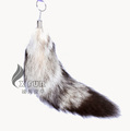CX-R-06 Customized Genuine Fox Fur Tail Keychain