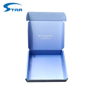 Foil logo Folding Paper Printed Corrugated Custom Mailer Box