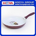 DIA.28cm Non stick Aluminum Ceramic Frying Pan Frying Wok