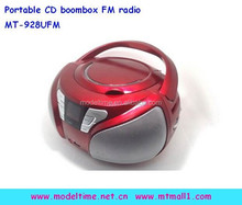 Portable boombox radio cd player con ranura usb