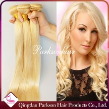 613 blonde hair weave blonde human hair weave virgin Russian hair extension