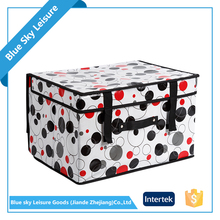 Polyester Non Woven Embossing Fabric Multipurpose Foldable Food Storage Box With New Lid
