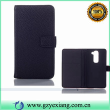 Stand phone leahter PU wallet case for LG g2 mini with lichee design