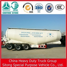 China heavy truck 56 CBM bulk cement tank semi trailer for sale