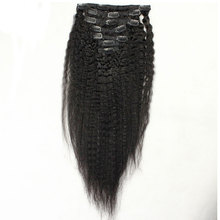 Hot Selling Curly Black Clip In Hair Extensions For Black Women