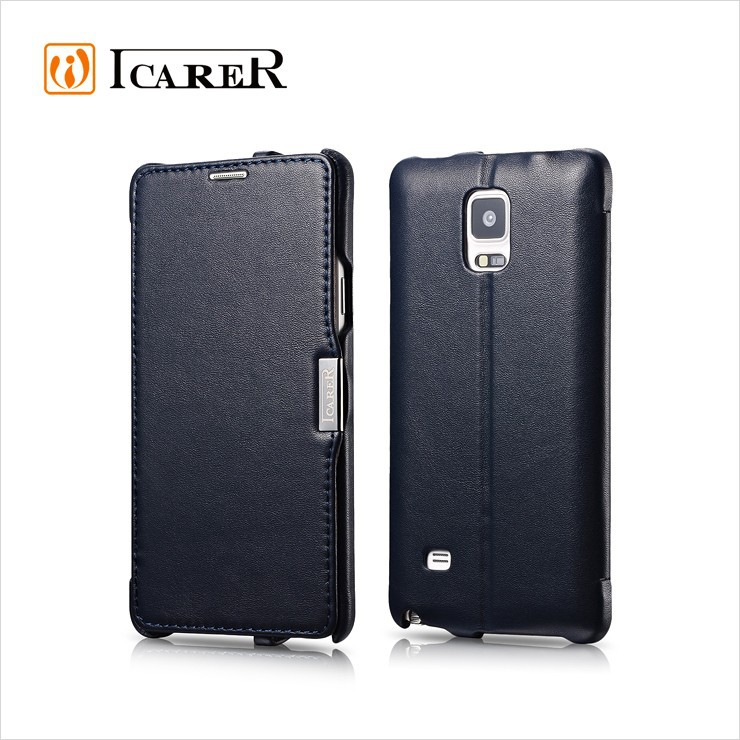 Leather Mobile Phone Cover for samsung galaxy note 4 case