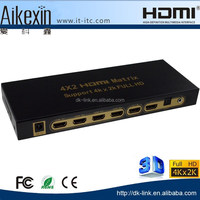 2k*4k &1.4v high speed hdmi splitter switch 4 in 2 out hdmi matrix with audio extractor
