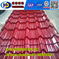 Popular corrugated steel roofing sheet---corrugated metal roof tile