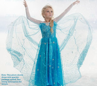 frozen elsa dress wholesale,frozen dress,elsa dress for kids cosplay costume in frozen