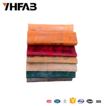 Cheap Price Polyester Imitation Brozing Leather Sofa Fabric for Upholstery in Hotel