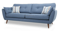 China Modern Furniture Suppliers Blue Modern Fabric Sofa WIth Good Price