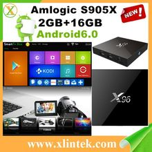 Black box internet tv receiver X96 S905X 2G/16G/4K Android 6.0 KODI 16.1 download user manual for android X96 tv box