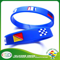 custom texts silicone bangle silicone rubber wristbands silicone bracelets
