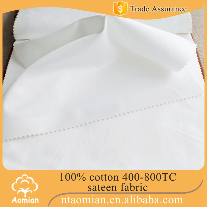 popular 400 thread count soft white satin fabric mills china