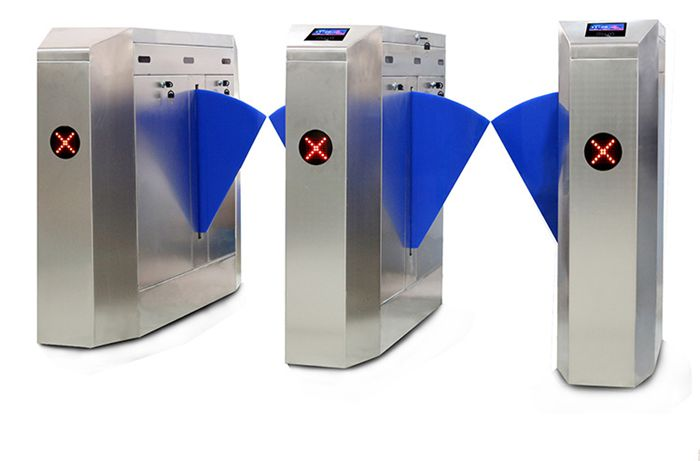 Automation gate barrier flap turnstile with uhf rfid reader