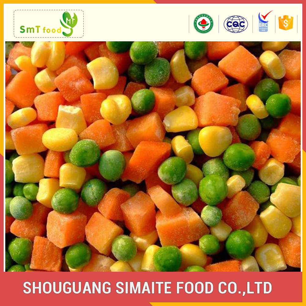 Experienced pass ISO9001 best quality frozen mixed vegetable