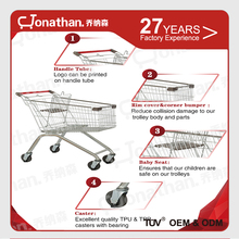 180L large storage wholesale supermarket shopping trolley cart