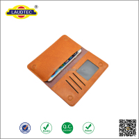 New Arrival Luxury Universal Geniune Leather Pouch Wallet Smart Mobile Phone Case