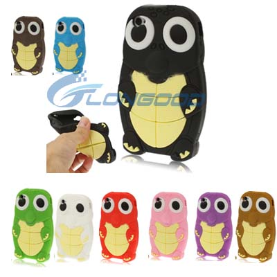 New Fashion Cute Turtle Shape 3D Animal Silicon Case Cover Skin For iPhone 4 4G 4S