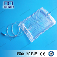 Qualified urology department medical supplies transparent urine drain bag with screw valve