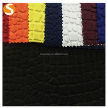 High Fashion Polyester Spandex 3D Embossed Scuba Fabric for chair covers