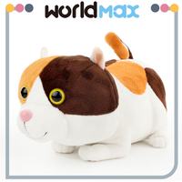 Good Quality Decorative Plush Big head Kitten Cartoon Baby Girls Toys