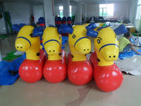 promotional custom made large inflatable KIDS water horse ,lovely characteristic inflatable the water horse