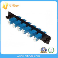 6 port SM LCUPC Fiber Adapter patch Panel with duplex LC adapter