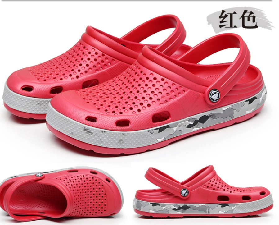 custom rubber comfortable new design holes sole slipper