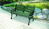Patio bistro garden bench iron lounge chaise park bench