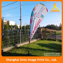 110g knitted polyester outdoor banner, dye sublimation advertising custom beach flag