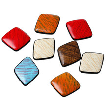 Acrylic Spacer Beads Rhombus Diamond Shape At Random About 3.0cm x 25.0mm, Hole: Approx 2.0mm, 30 PCs