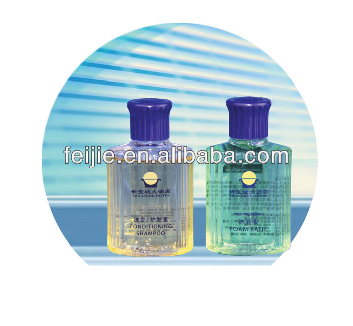 brand mini cheap hotel disposable bottle shampoo with logo printed