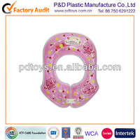 New inflatable PVC neck swim floating tube for baby