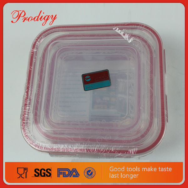 Plastic Casserole Compartment Microwave Food Carrying Container