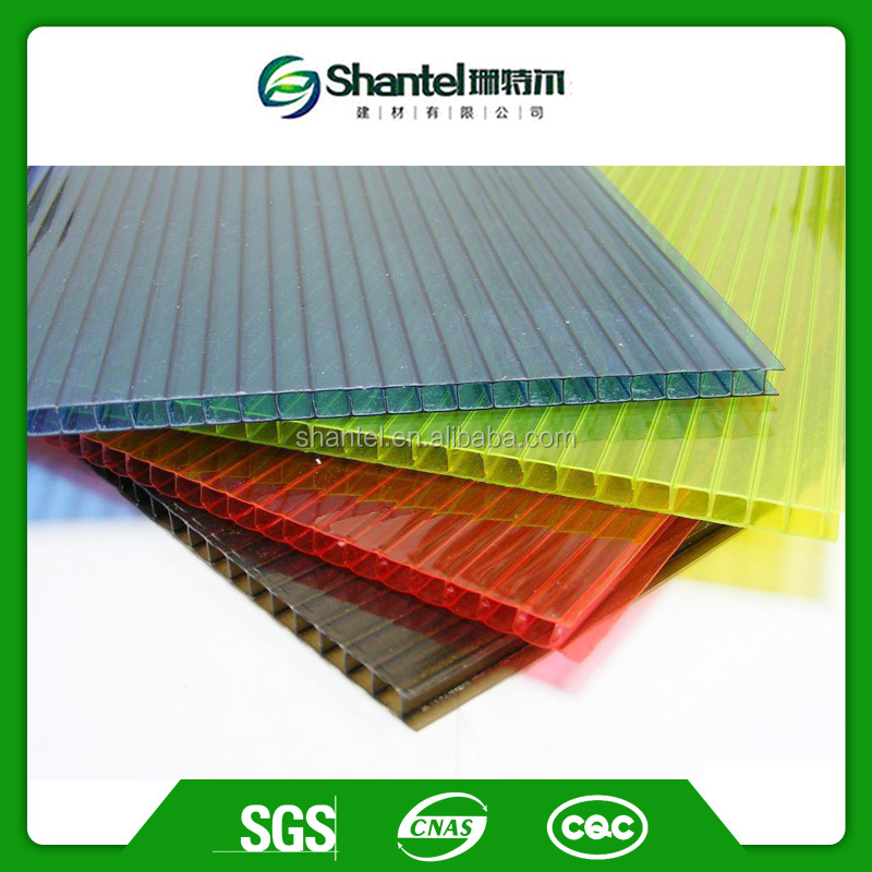 4mm 6mm 8mm 10mm 12mm Twin Wall PC Hollow Sheet Polycarbonate Sheet Price