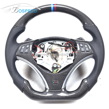 For BMW E90 E92 E93 M3 Flat Bottom Carbon Fiber Steering Wheel