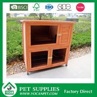 outdoor double wooden rabbit hutch rabbit cage