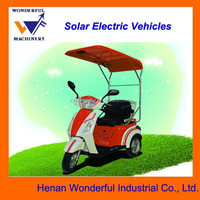 Sunshine E-Car solar electric three wheel motor vehicle for passenger