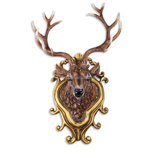 Wall Mounted Decorative Deer Head Polystyrene Animal Head Large Size