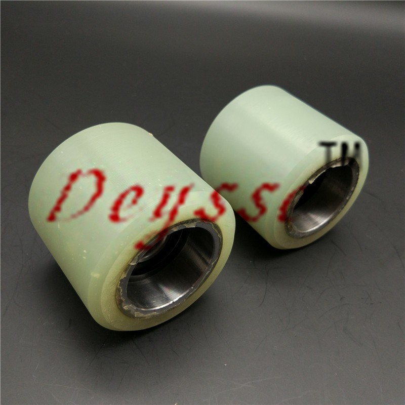 60*55mm 6202Bearing Mitsubishi Escalator Handrail Press Roller Aluminum