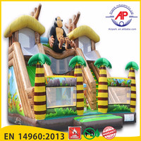 2016 Airpark Top selling cheap inflatable slide,giant inflatable pool slide for adult with best quality