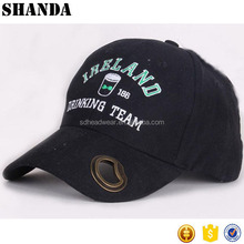 Irish drinking cap with bottle opener Men's Curved Adjustable Baseball Cap for promotional