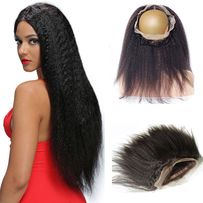100% Unprocessed Brazilian Human Hair 360 Lace Frontal Easy Attach And Breathable